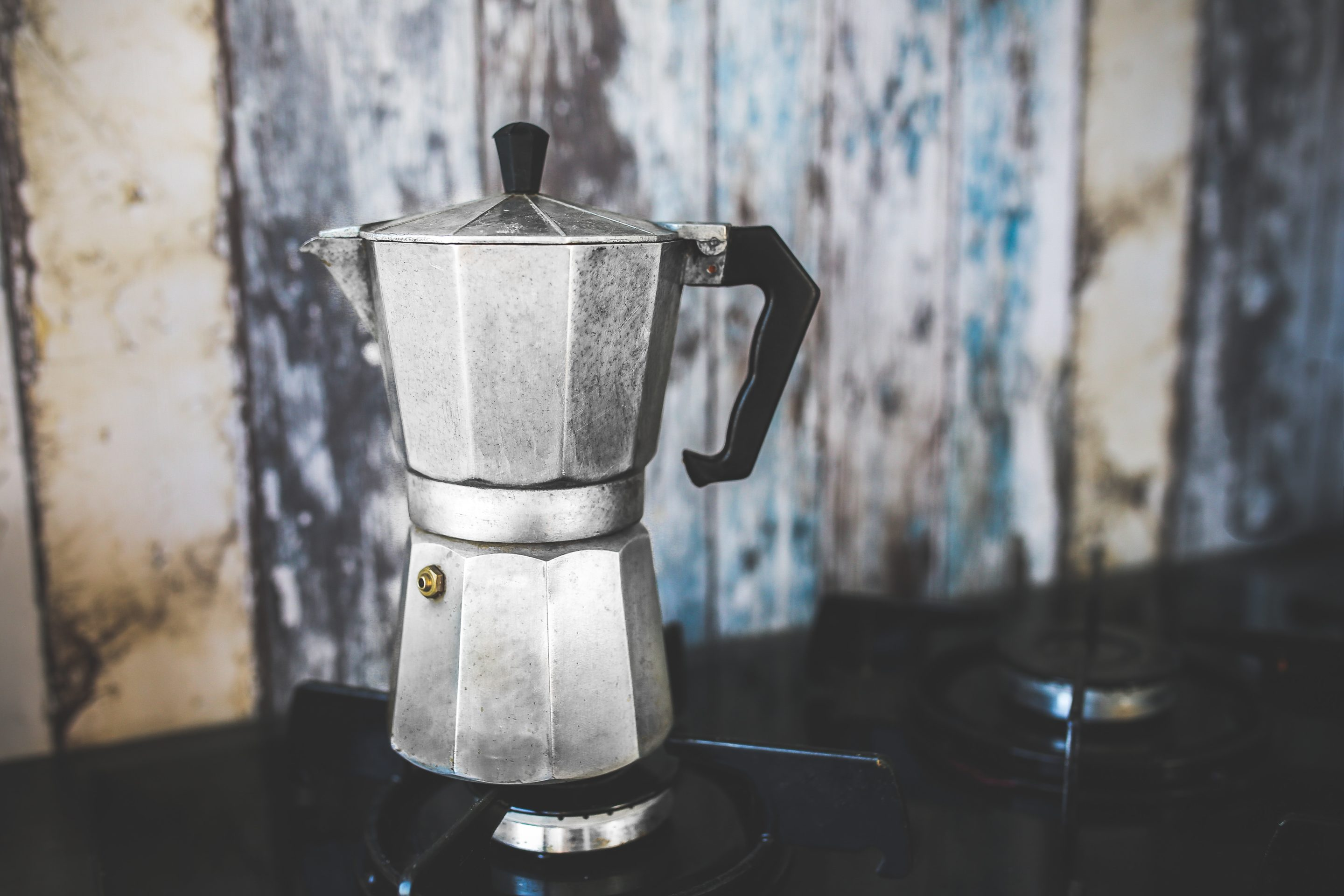 moka pot-aluminium-antique-coffee